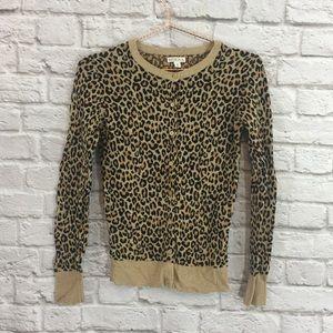 Leopard Ribbed Cardigan